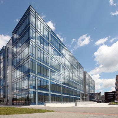 Verwaltungsgebäude Bürohaus Glas und Stahl Architekten Kleinknecht Leipzig