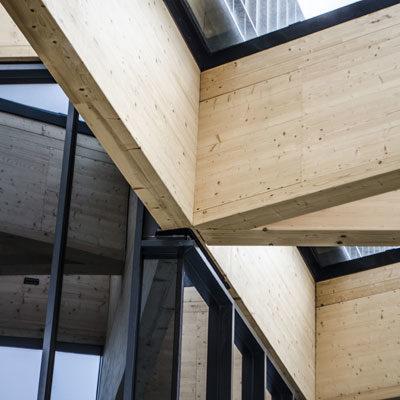 Holzbau Leimbinder Detail Architekten Kleinknecht Leipzig