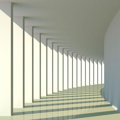 Eingangsbereich Säulenhalle Architekten Kleinknecht Leipzig